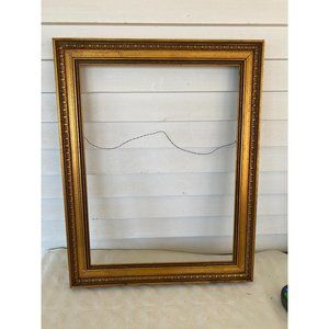 """gold picture frame 18"""" x15"""" wall decor"""